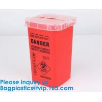 Best Biohazard Plastic Sharps Container,Hospital Biohazard Medical Needle Disposable Plastic Safety Sharps Container wholesale