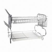 Best Dish Rack, Made of Iron Wire with Chrome-plating Finish wholesale