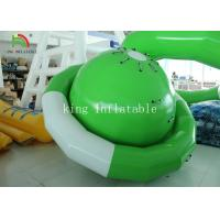 China Green / White UFO Shape PVC Tarpaulin Inflatable Floating Saturn Water Toy For Climbing on sale