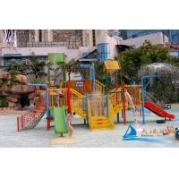 Best Fiberglass and Steel Pipe Water Slides , Valves Water Playground Equipment For Water Park wholesale