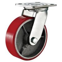 Best Red Heavy Duty Swivel Plate Caster Wheel / 6 Inch Caster Wheels Polyurethane On Iron wholesale