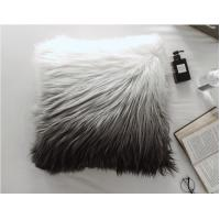 China Custom Square Shape Faux Sheepskin Throw Pillow Covers  gradient Removable Washable on sale