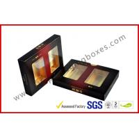 Best Matt Varnish Foil Paper Cigar Gift Box With Golden / Cigar Gift Sets wholesale