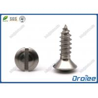 Best 18-8 Stainless Steel Slotted Oval Head Self-tapping Sheet Metal Screw wholesale