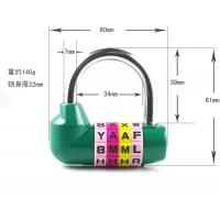 China 4 Digital English Letter Combination Lock U type anti-theft Code Lock English letter lock on sale