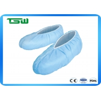 China Waterproof Breathable 16*40cm Blue Disposable Shoe Cover on sale