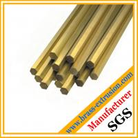 China Hexagon brass extrusion Rods C38500 CuZn39Pb3  CuZn39Pb2 CW612N C37700 Brushed, polished, electroplated, antique surface on sale