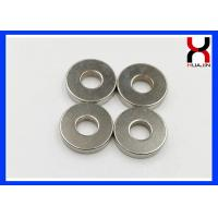 Best Rare Earth Ring Shaped Magnet , Permanent Big Ring Magnet With Nickle Plating wholesale