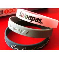China Durable Engraved Rubber Bracelets , Rubber Bracelets With Words Long Life Time on sale