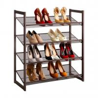 Best H264 4-Tier Shoe Storage Organizer Easy Assembly With Metal Copper Coating wholesale