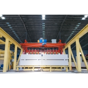 Best CE Crane Semi Automatic Block Making Machine-finished product crane wholesale