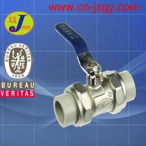 Best PPR plastic pipe fittings double union ball valve wholesale