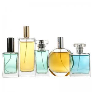 China Silk Printing Glass Perfume Aluminum Spray Bottle on sale