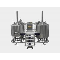Direct Fired 20 BBL Brewhouse , Pub Beer Brewery Equipment With Two Tanks