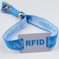 Best 13.56MHz MIFARE S50 Fabric RFID NFC Custom Wristband wholesale
