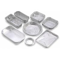 Best Custom Food Packaging Aluminium Foil Baking Trays , Disposable Aluminum Pans wholesale
