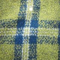 China Wool Poly Blend Fabric Loop with Check Design on sale