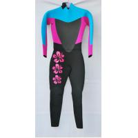 Buy cheap Black /Blue/Pink  Women Full Body CR  Diving Suit   with Mesh on the Chest and back product