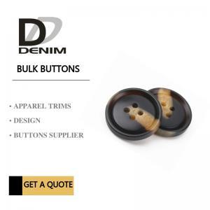 Best Fashionable Plastic Dress Bulk Buttons Brown & Black DTM Fabric Stock Size wholesale