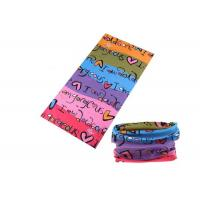 Best Bicycle Simple UV Buff Headwear , Polyester Buff Tube Scarf Speed Dry wholesale