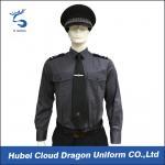 Best Long Sleeve Security Uniform Shirts / Zip Front Military Style Shirt Size Custom wholesale