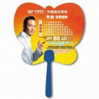Best Hand Fan, Suitable for Promotional Purposes, Made of PP, Customer's Logo Printings are Available wholesale