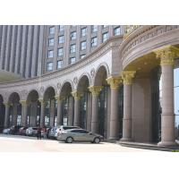 China Brown Natural Building Stone Hand Carved  Roman Marble Columns For Hotel on sale