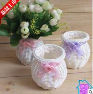 Best High Quality Cheap PP Rattan Woven Flower Holder wholesale
