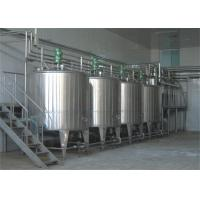 Buy cheap Aseptic Pouch Packaged Milk Processing Machinery With Balance Tank And Beverage Pump product