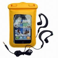 Best Water-resistant Bag/Dry Pouches for iPhone/MP3/4 Players/iPod, Made of PVC and ABS, IPX8 wholesale