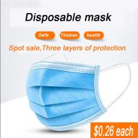 China Breathable High Quality Carbon Non-Woven 3 ply Disposable Face Mask Printed for Beauty Salon on sale