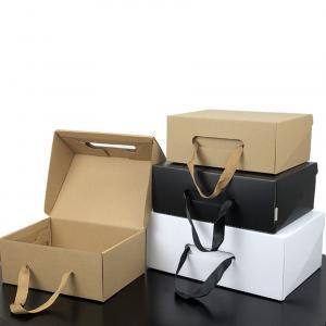 Best Luxury Custom Printing Packaging Paper Gift Box Handle Corrugated Box wholesale