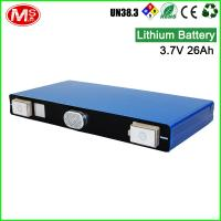 China High power output solar battery 3.7V 26Ah rechargeable lithium ion battery on sale