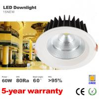Best 60W Ultra high lumens 5500LM Dimmable CREE COB home hotel lighting LED Downlight wholesale