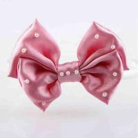 Cheap Headband Baby Girl Hair Accessory Ribbon Bow Customiazed Size With Pearl for sale