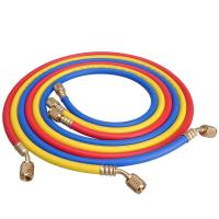 China 3/16 Inch 5mm Refrigerant Charging Hose With Fitting For R134A on sale