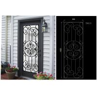 China Most Durable Agon Filled Wrought Iron Glass Doors 22*64 inch Size Shaped Crafted on sale