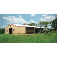 China Customized Agricultural Steel Buildings Hay Barn With Steel Wall And Roof 0.7mm PPGI on sale