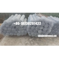 China hot dipped galvanized 2.2mm x 25mm opening chain link fence roll mesh on sale
