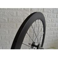 Best 700c Aero Carbon Track Wheelset 23mm Width Matte / Glossy Surface Finish wholesale