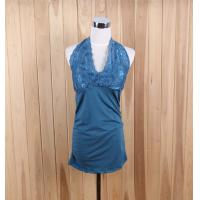 Cheap quality girl's apparel stock lots cheap place sexy backless tank tops Charming halter tops for sale