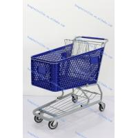 China Uncollapsible Plastic Supermarket Shopping Trolleys  Logo Board wholesale