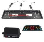 Best CE,FCC 3 Parking Sensors European Car license plate frame parking sensor wholesale