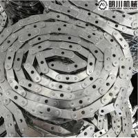 Best Silver Double Roller Chain , C2050 Stainless Steel Conveyor Chain With A Hole wholesale