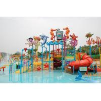China Ocean World Adults Aqua Playground Equipment with Inflatable Water Slides for Water Park on sale