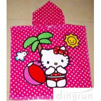 Best Full Reactive Printing Personalized Hooded Poncho Towels Azo Free wholesale