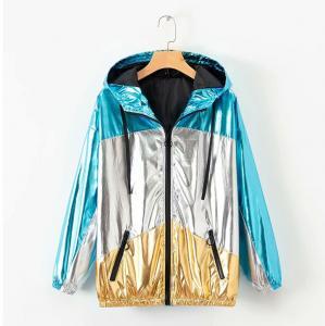 China Fashion Mens Reflective Jacket / Womens Metallic Coat Plating Coating on sale