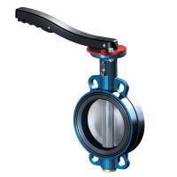 China UPVC butterfly valve with red stamping handle on sale