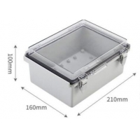 Best 210x160x100mm IP65 ABS Plastic Enclosure With Hinged Cover wholesale