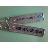 Air France KLM Remove Before Flight  Customized OEM Fabric Keychains Manufacturer